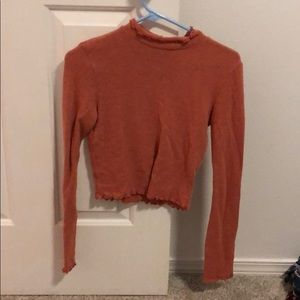 Urban outfitters mock neck sweater lettuce size s